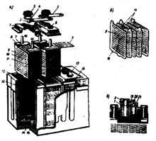 схема устройства аккумуляторной батареи.