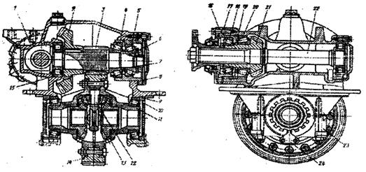 Схема заднего редуктора камаз