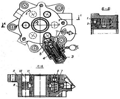 Распределитель гидравлического усилителя: 1,20-плунжеры; 2,7,8 - пружины; 3 - колпак клапана; 4 -прокладка; 5,6...