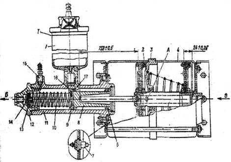 тормозным цилиндром схема